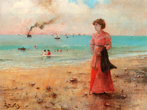 Alfred Stevens young-woman-with-the-red-umbrella-by-the-sea.jpg!HD.jpg